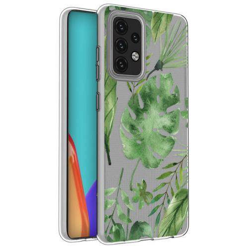 Design voor de Samsung Galaxy A52 (5G) / A52 (4G) hoesje - Bladeren - Groen