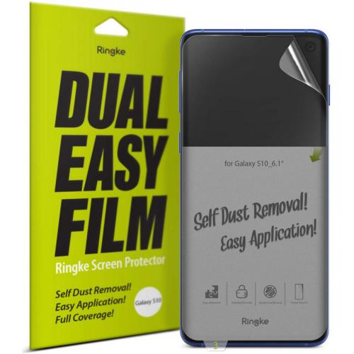 Dual Easy Screenprotector Duo Pack voor de Samsung Galaxy S10