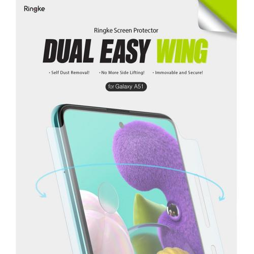 Dual Easy Wing Screenprotector Duo Pack voor de Samsung Galaxy A51
