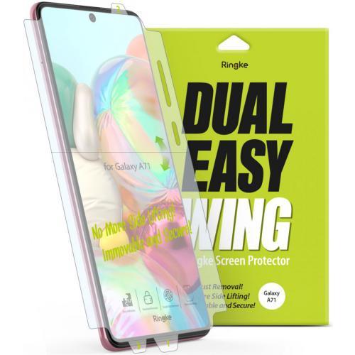 Dual Easy Wing Screenprotector Duo Pack voor de Samsung Galaxy A71