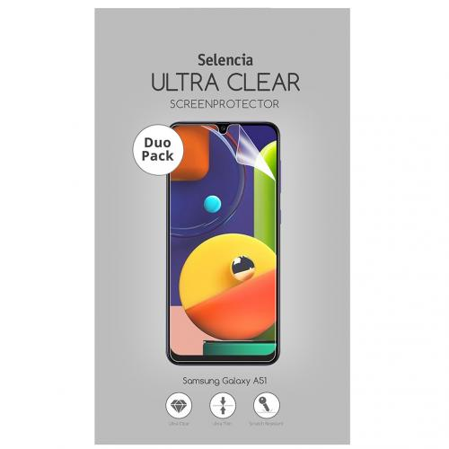 Duo Pack Ultra Clear Screenprotector voor de Samsung Galaxy A51