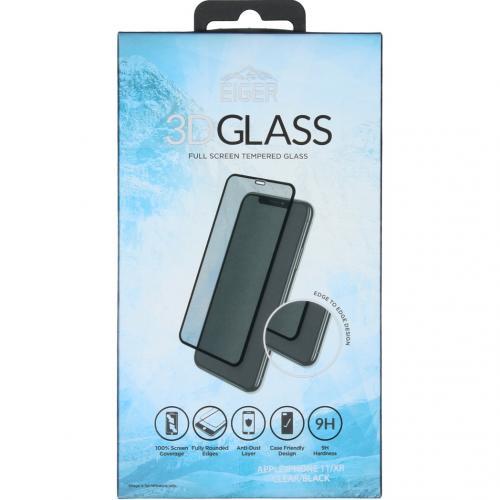 Edge to Edge Glass Screenprotector voor de iPhone 11 - Zwart