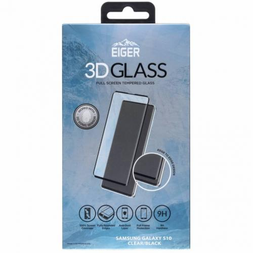Edge to Edge Glass Screenprotector voor Samsung Galaxy S10 - Zwart