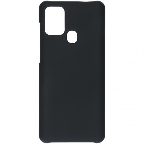 Effen Backcover voor de Samsung Galaxy A21s - Zwart