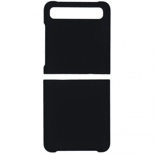 Effen Backcover voor de Samsung Galaxy Z Flip - Zwart