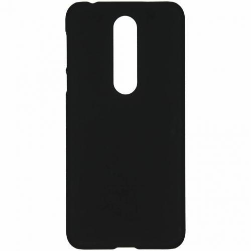 Effen Backcover voor Nokia 7.1 - Zwart