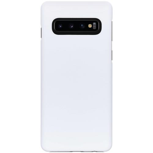 Effen Backcover voor Samsung Galaxy S10 - Wit