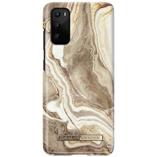 Fashion Backcover voor de Samsung Galaxy S20 - Golden Jade Marble