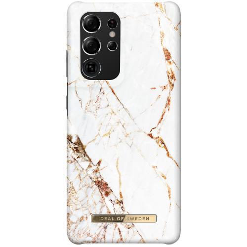 Fashion Backcover voor de Samsung Galaxy S21 Ultra - Carrara Gold