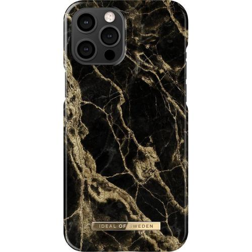 Fashion Backcover voor iPhone 12 Pro Max - Golden Smoke Marble