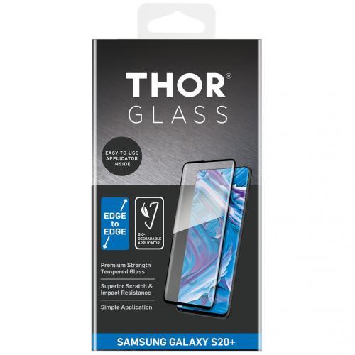 Full Screenprotector + Apply Frame voor de Samsung Galaxy S20 Plus - Zwart
