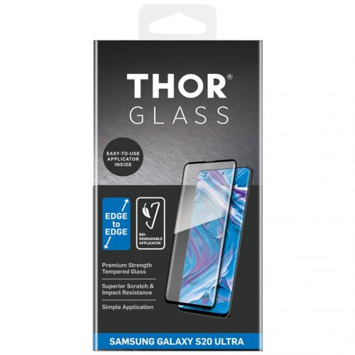 Full Screenprotector + Apply Frame voor de Samsung Galaxy S20 Ultra - Zwart
