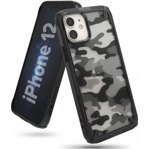 Fusion X Backcover voor iPhone 12 Mini - Camo Zwart