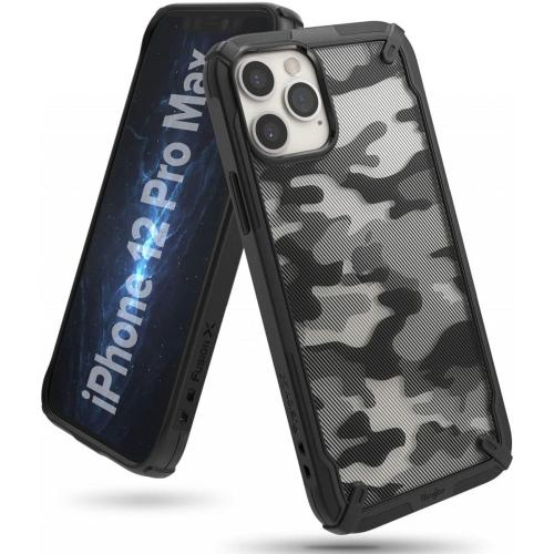 Fusion X Backcover voor iPhone 12 Pro Max - Camo Zwart