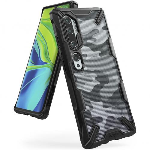 Fusion X Design Backcover voor de Xiaomi Mi Note 10 - Camo Zwart