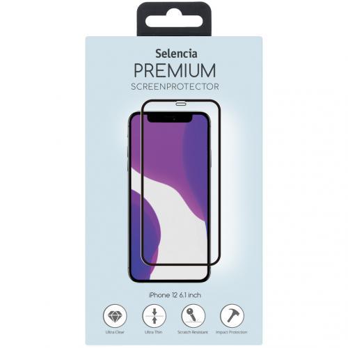 Gehard Glas Premium Screenprotector voor de iPhone 12 6.1 inch - Zwart