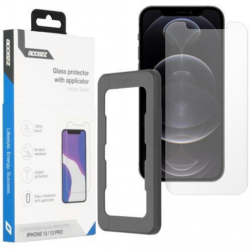 Glass Screenprotector + Applicator voor de iPhone 12 (Pro)