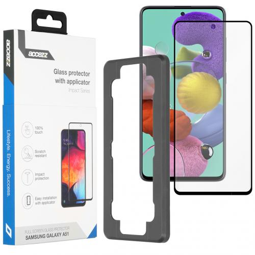 Glass Screenprotector + Applicator voor de Samsung Galaxy A51