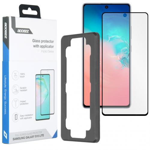 Glass Screenprotector + Applicator voor de Samsung Galaxy S10 Lite