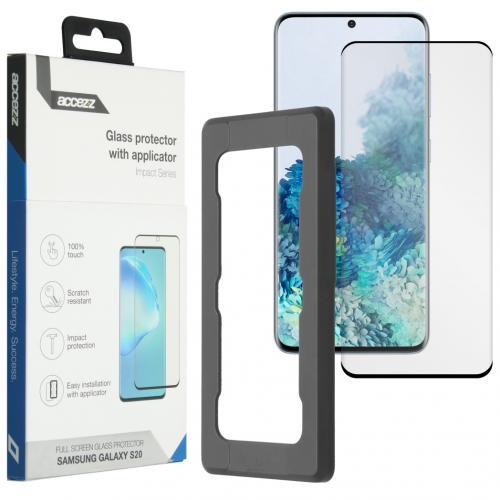 Glass Screenprotector + Applicator voor de Samsung Galaxy S20