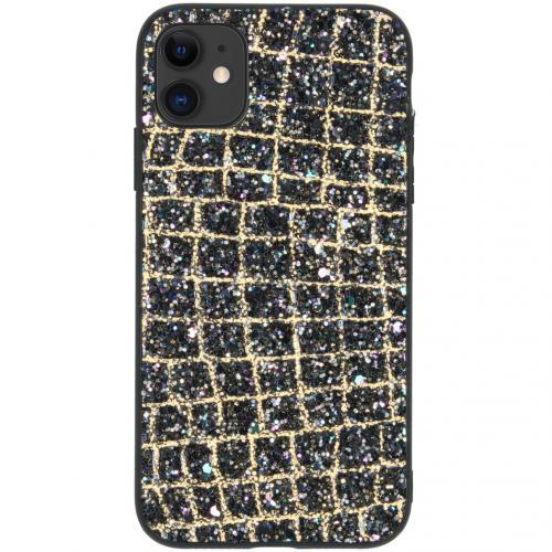 Glitter Snake Hardcase Backcover voor de iPhone 11 - Goud