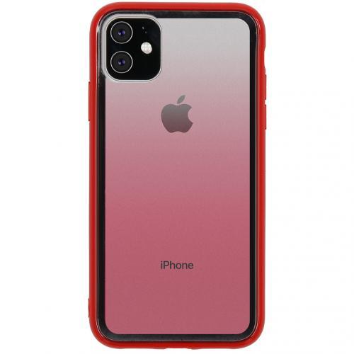 Gradient Backcover voor de iPhone 11 - Rood