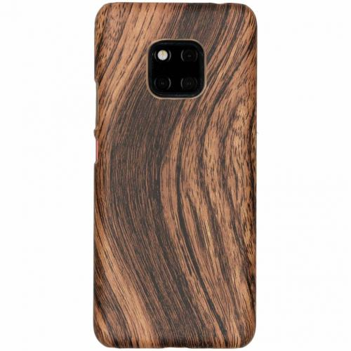 Hout Design Backcover voor Huawei Mate 20 Pro - Donkerbruin