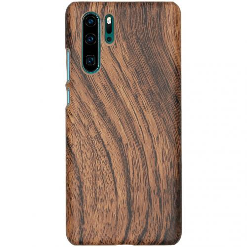 Hout Design Backcover voor Huawei P30 Pro - Donkerbruin