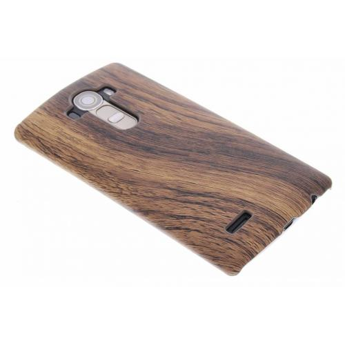 Hout Design Backcover voor LG G4 - Donkerbruin
