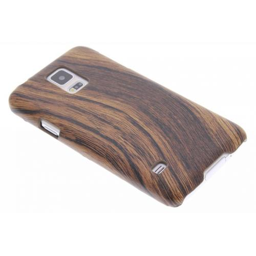 Hout Design Backcover voor Samsung Galaxy S5 (Plus) / Neo - Donkerbruin