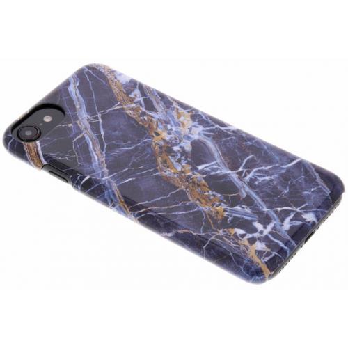 iPhone 8 / 7 / 6 / 6s hoesje blauw - Marmer design