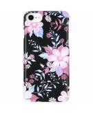 iPhone 8 / 7 / 6 / 6s hoesje bloemen zwart - Flowers Passion