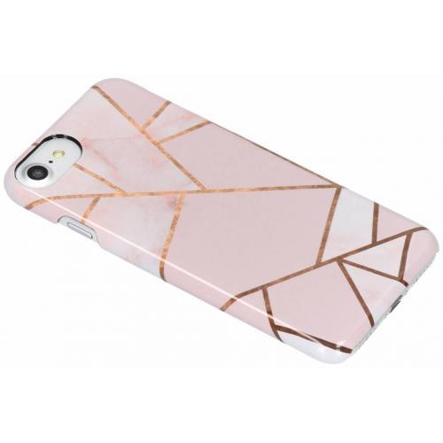 iPhone 8 / 7 / 6 / 6s hoesje roze / koper / brons -  Graphic design