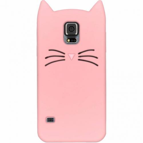 Kat Backcover voor Samsung Galaxy S5 (Plus) / Neo - Roze