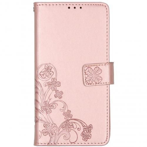 Klavertje Bloemen Booktype voor de Nokia 2.3 - Rosé Goud