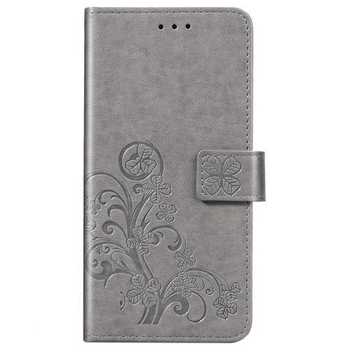 Klavertje Bloemen Booktype voor de Samsung Galaxy A31 - Grijs