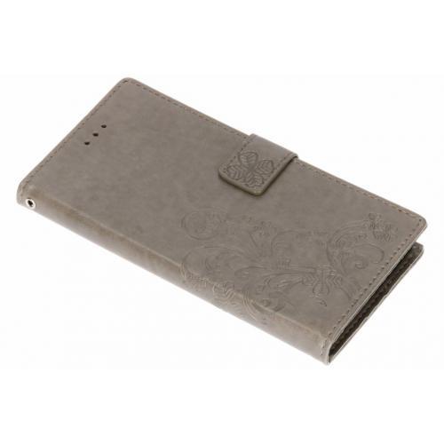 Klavertje Bloemen Booktype voor Samsung Galaxy Note 9 - Grijs