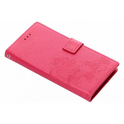 Klavertje Bloemen Booktype voor Samsung Galaxy Note 9 - Roze