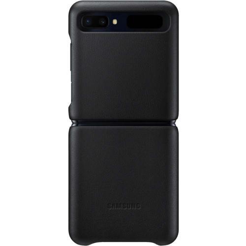 Leather Backcover voor de Galaxy Z Flip - Zwart