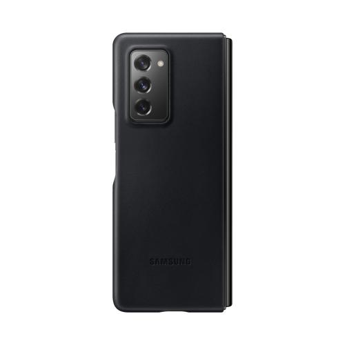 Leather Backcover voor de Galaxy Z Fold2 - Zwart