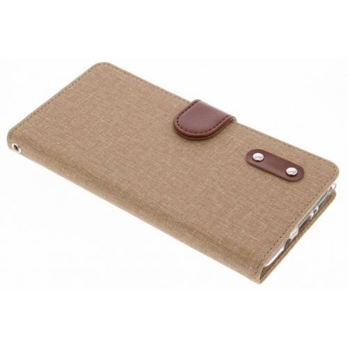 Linnen Booktype voor Samsung Galaxy Note 8 - Bruin