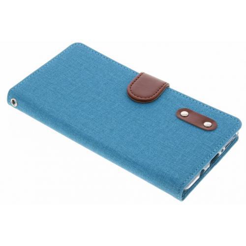 Linnen Booktype voor Samsung Galaxy Note 8 - Turquoise
