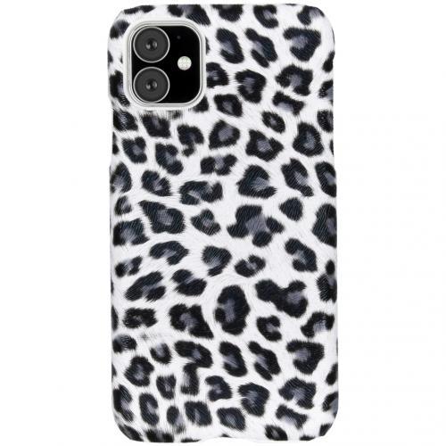 Luipaard Design Backcover voor de iPhone 11 - Wit