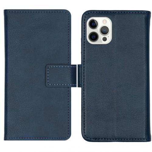 Luxe Booktype voor de iPhone 12 Pro Max - Donkerblauw