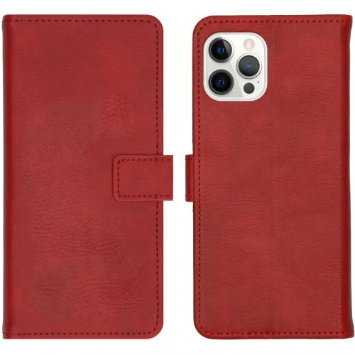 Luxe Booktype voor de iPhone 12 Pro Max - Rood