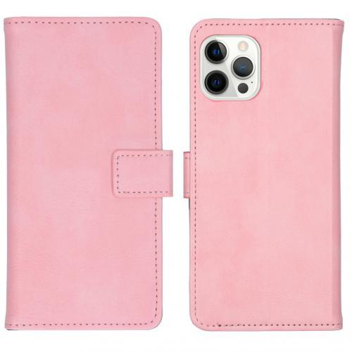 Luxe Booktype voor de iPhone 12 Pro Max - Roze