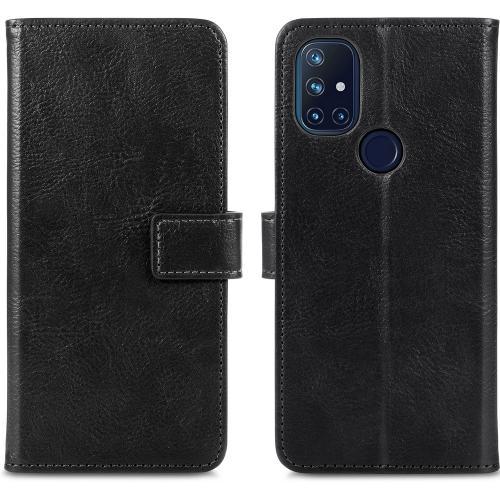 Luxe Booktype voor de OnePlus Nord N10 5G - Zwart