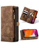 Luxe Lederen 2 in 1 Portemonnee Booktype voor de iPhone 12 Mini - Bruin