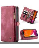 Luxe Lederen 2 in 1 Portemonnee Booktype voor de iPhone 12 Mini - Rood