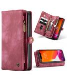 Luxe Lederen 2 in 1 Portemonnee Booktype voor de iPhone 12 Pro Max - Rood
